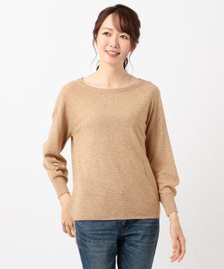 any FAM 【洗える】カシミヤブレンドニット プルオーバー キャメル系