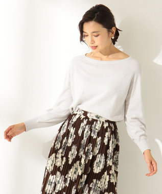 any FAM 【洗える】カシミヤブレンドニット プルオーバー ライトグレー系