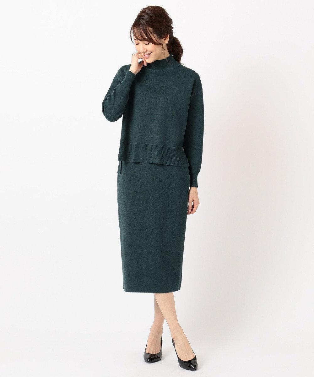 any FAM 【WEB限定】ニットタイトスカート セットアップ グリーン系