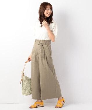 any FAM 【UVケア】パフスリーブニット Tシャツ ホワイト系