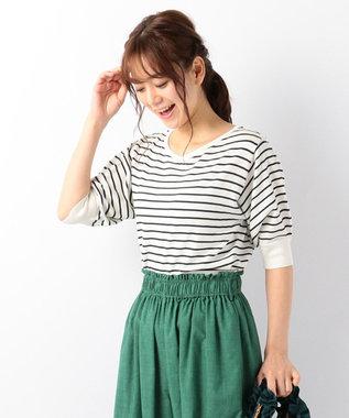 any FAM 【UVケア】パフスリーブニット Tシャツ ネイビー系1
