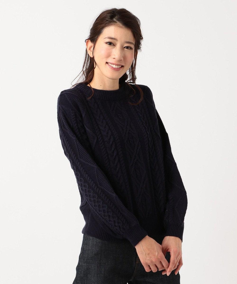 any FAM 【Under¥3,000+tax】スムースケーブル ニット ネイビー系