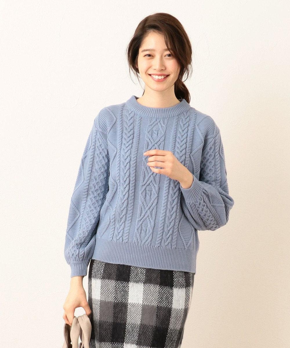 any FAM 【Under¥3,000+tax】スムースケーブル ニット サックスブルー系