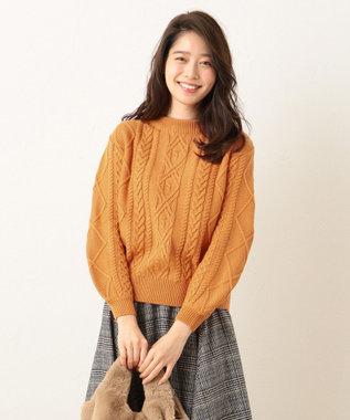 any FAM 【Under¥3,000+tax】スムースケーブル ニット オレンジ系