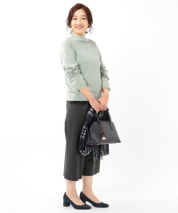 J.PRESS LADIES S 【カシミヤ100%】ピュアカシミヤボトルネック ニット