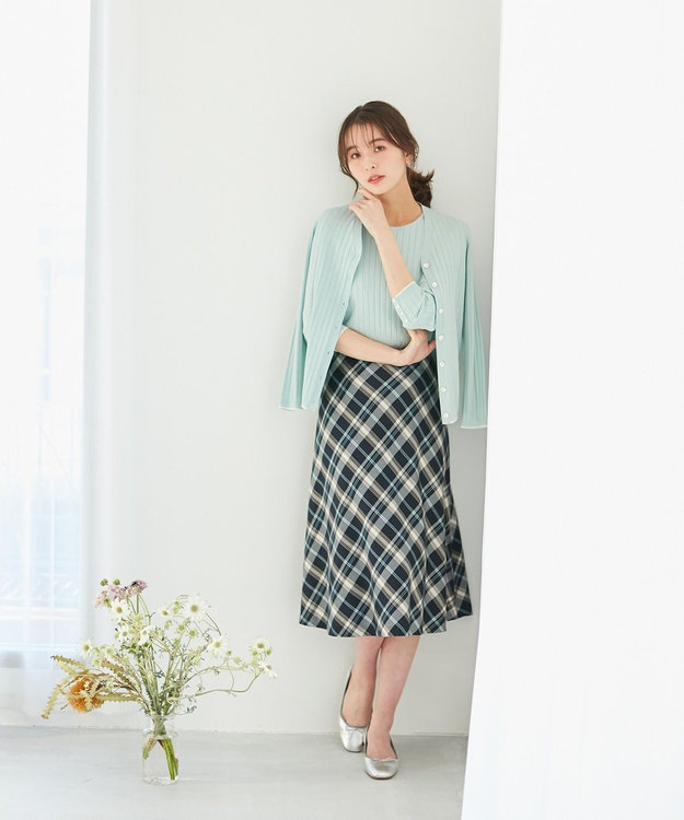 J.PRESS LADIES L 【洗える】ハイブリッドコットン ニット