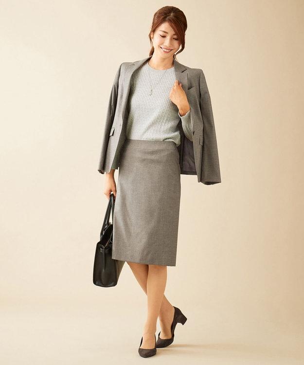 J.PRESS LADIES S 【洗える】ファインコットンミニケーブル ニット