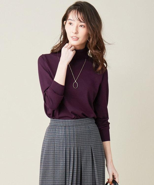 J.PRESS LADIES 【新色追加】ウールを含まないPRINCE タートルネック ニット