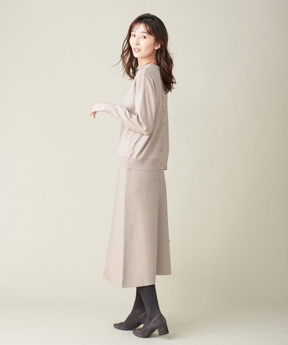 J.PRESS LADIES 【洗える】PRINCE モックネック ニット ベージュ系