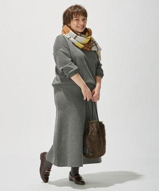 J.PRESS LADIES 【洗える】PRINCE モックネック ニット グレー系
