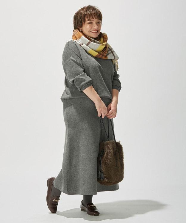 J.PRESS LADIES 【洗える】PRINCE モックネック ニット