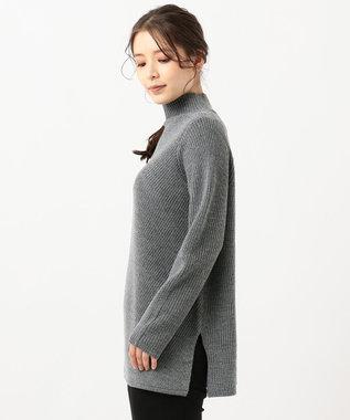 J.PRESS LADIES 【洗える】28ウールアクリル ニット グレー系