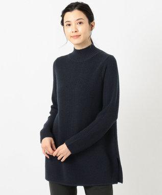 J.PRESS LADIES L 【洗える】28ウールアクリル ニット ネイビー系