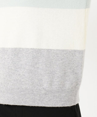 J.PRESS LADIES 【洗える】カシミヤブレンド2 カラーブロック ニット スモーキーグリーン系1