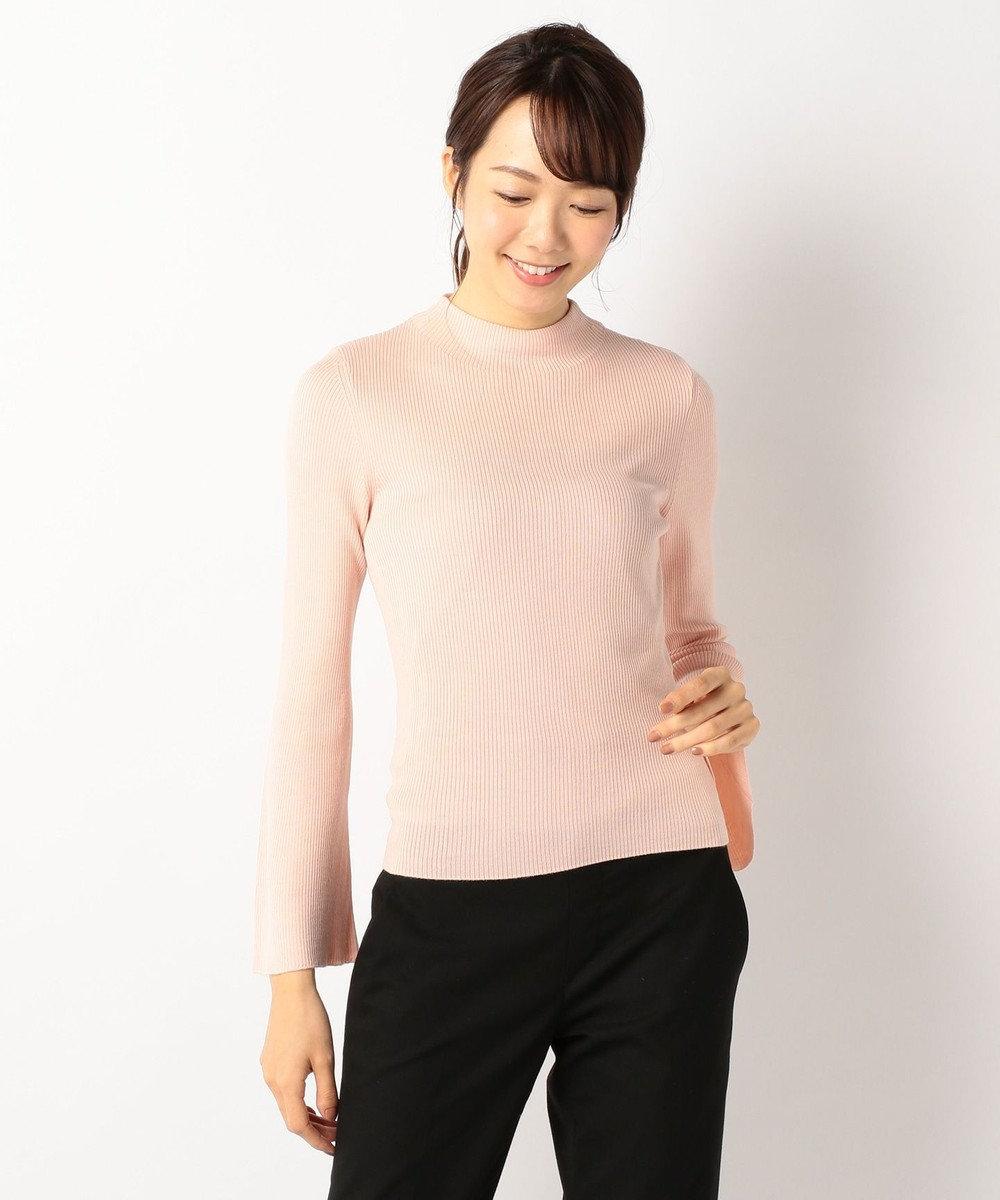 J.PRESS LADIES L 【洗える!】テンセルウールリブ フレアスリーブニット ピンク系