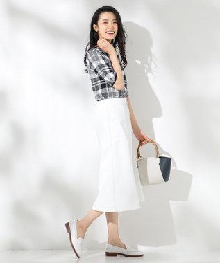 J.PRESS LADIES 【洗える】チェックジャガードコットン ニット ネイビー系4