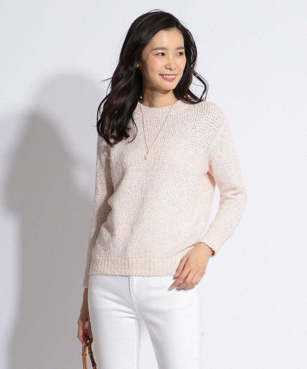 J.PRESS LADIES L 【洗える】カラーMIXファンシー ニット ピンク系