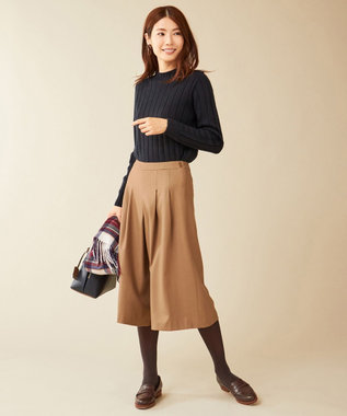 J.PRESS LADIES L 【洗える】ホールガーメントリブ ニット ネイビー系