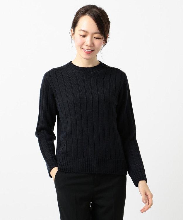 J.PRESS LADIES L 【洗える】ホールガーメントリブ ニット