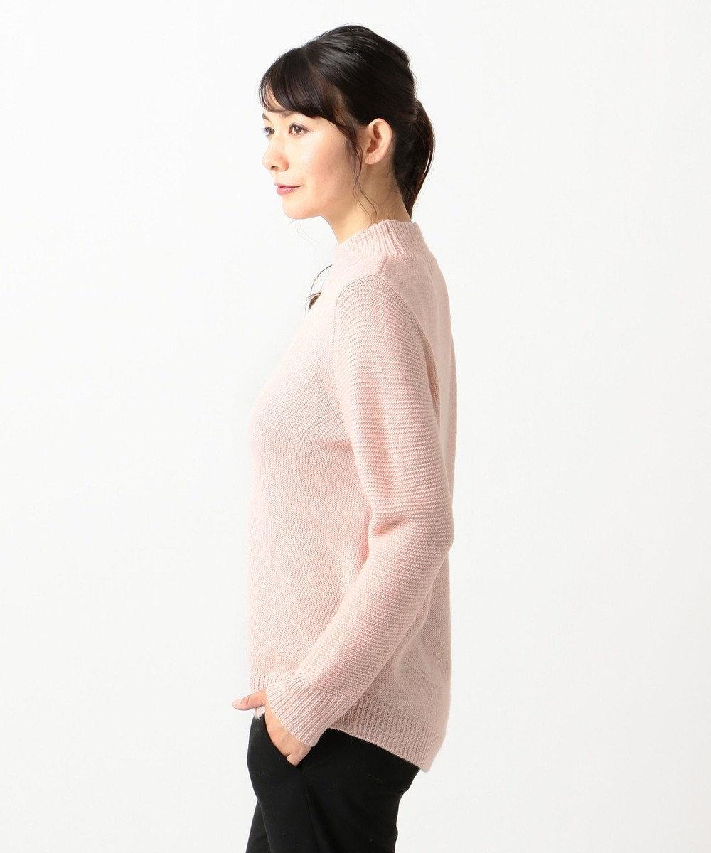 J.PRESS LADIES S 【洗える】ベビーアルパカステッチ ハイネック ニット ピンク系