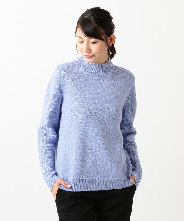 J.PRESS LADIES S 【洗える】ベビーアルパカステッチ ハイネック ニット