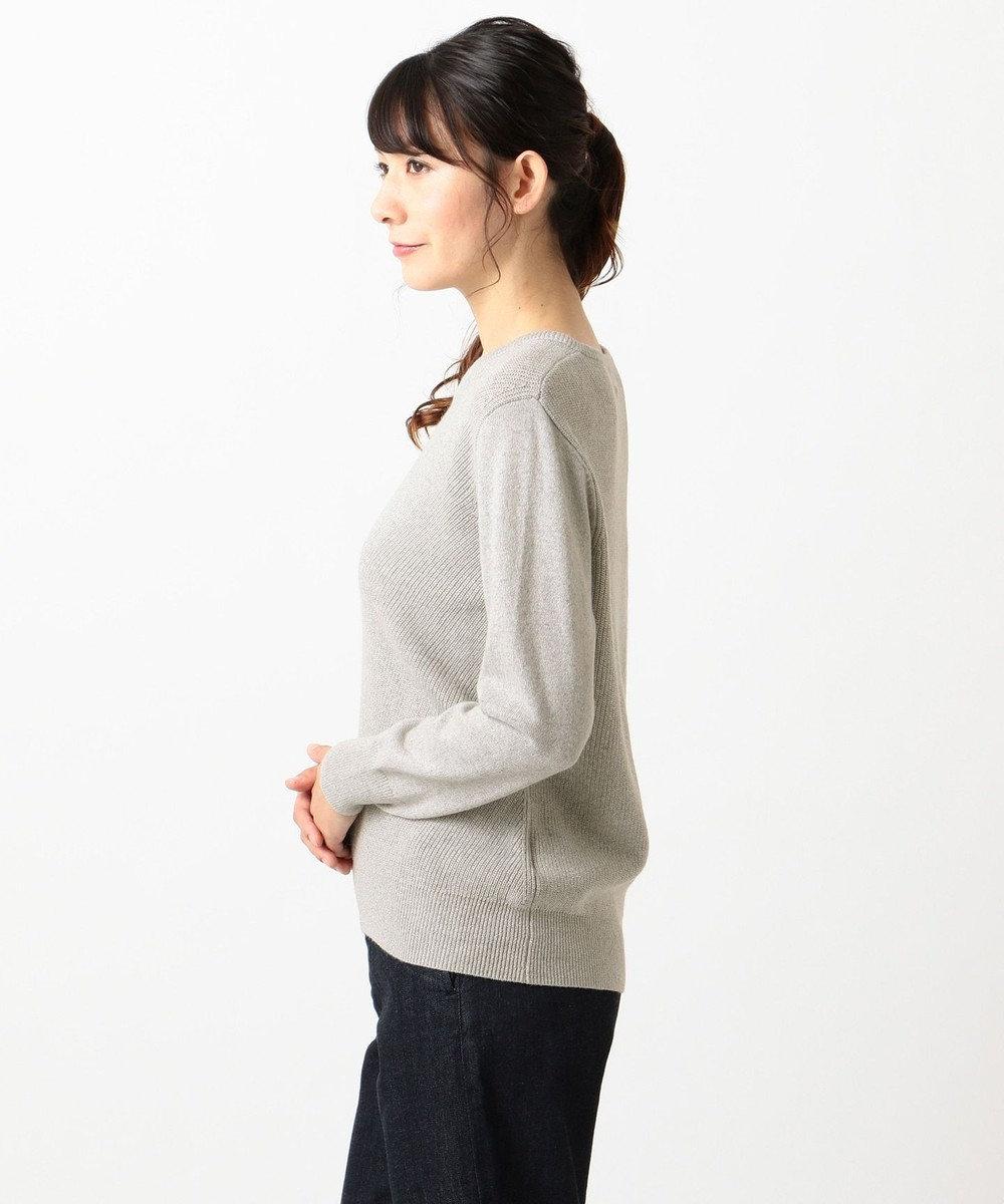 J.PRESS LADIES L 【カシミヤ混】洗えるラメ ニット ライトグレー系