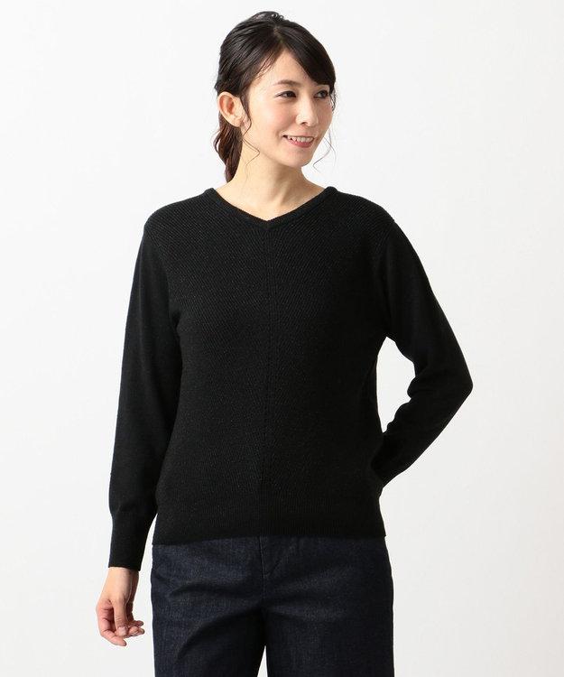 J.PRESS LADIES L 【カシミヤ混】洗えるラメ ニット