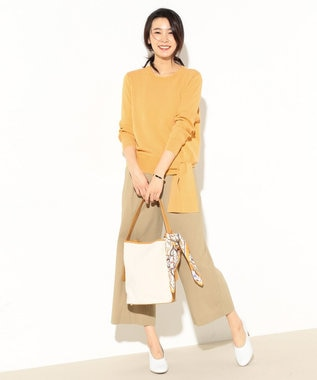J.PRESS LADIES 【洗える】ウエストポイント 総針ニット イエロー系
