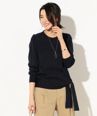 J.PRESS LADIES 【洗える】ウエストポイント 総針ニット ネイビー系
