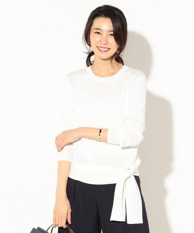 J.PRESS LADIES 【洗える】ウエストポイント 総針ニット