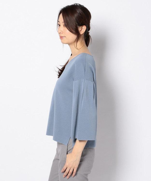 J.PRESS LADIES L 【洗える】インターロック ボリューム袖ニット