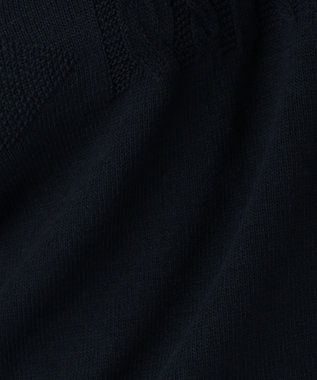 J.PRESS LADIES 【洗える】ボトルネックガンジーニット ネイビー系