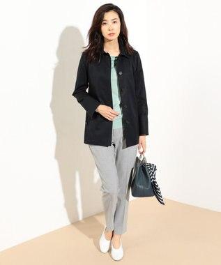 J.PRESS LADIES 【洗える】天竺カラー ドレープネックニット ライトグリーン系