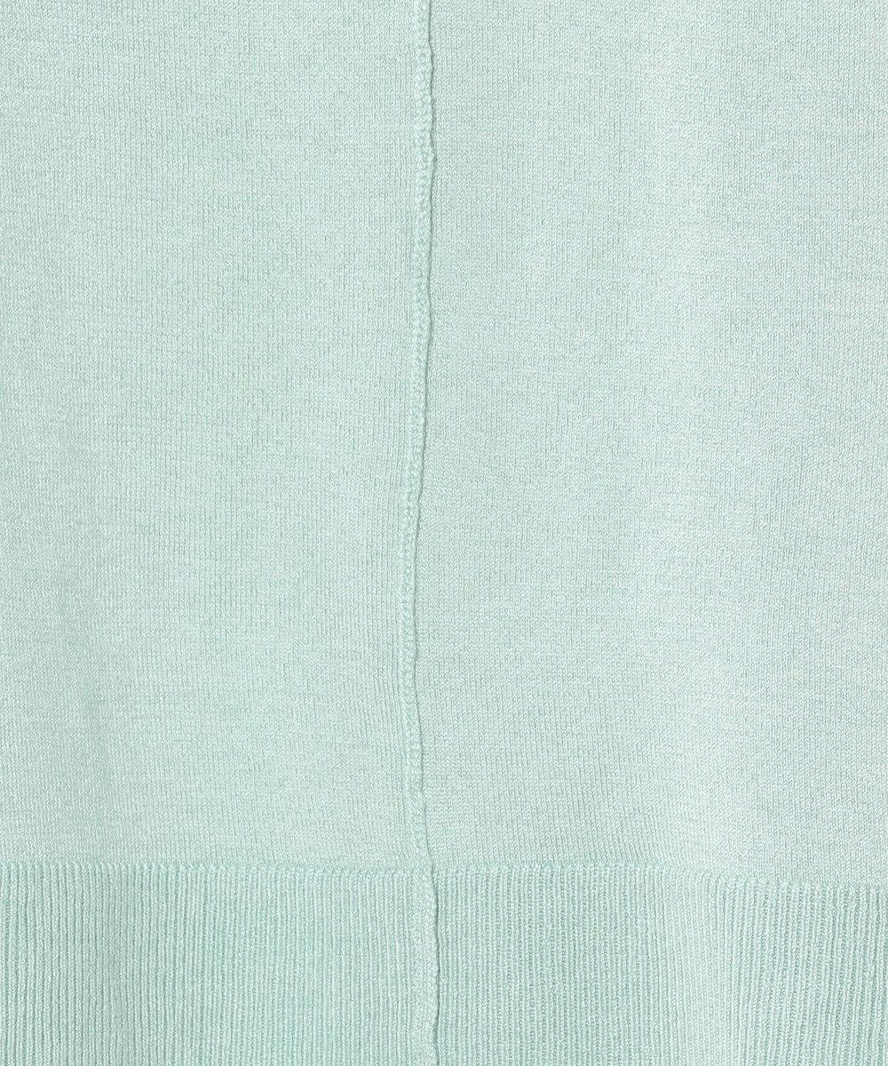 J.PRESS LADIES S 【洗える】天竺カラー ボックスシルエットニット ライトグリーン系