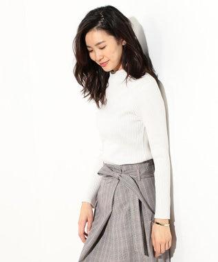 J.PRESS LADIES S 【洗える】コットンシルク リブニット ホワイト系