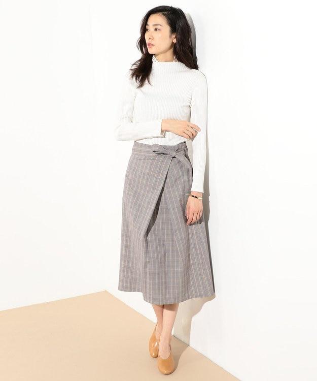 J.PRESS LADIES S 【洗える】コットンシルク リブニット