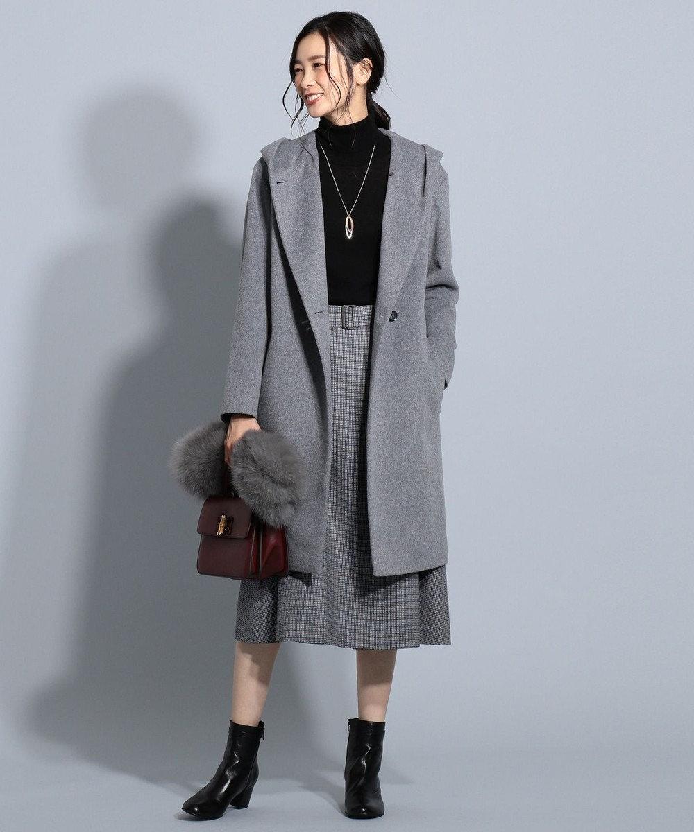 J.PRESS LADIES 【洗える】セミ梳毛 タートルネックニット ブラック系