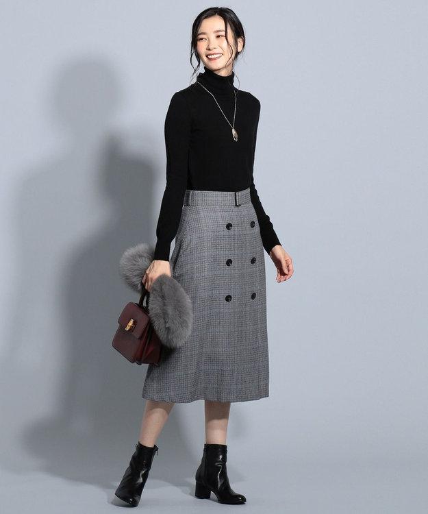 J.PRESS LADIES 【洗える】セミ梳毛 タートルネックニット