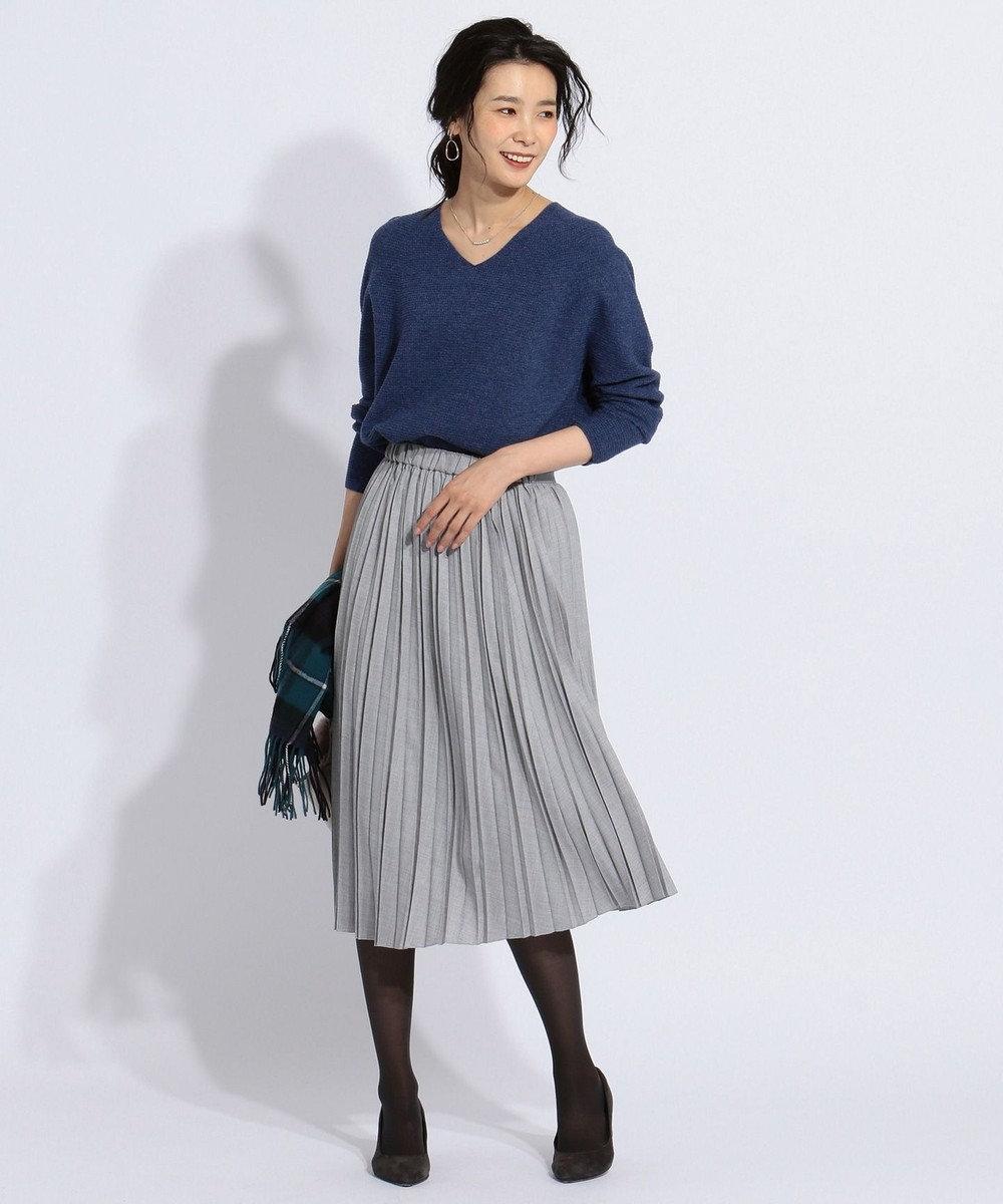 J.PRESS LADIES S 【WEB限定色あり】リンクスW.G.Vネック ニット ブルー系