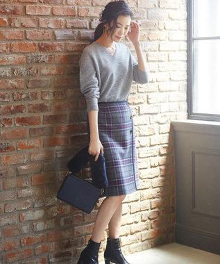 J.PRESS LADIES S 【WEB限定色あり】リンクスW.G.Vネック ニット アイボリー系