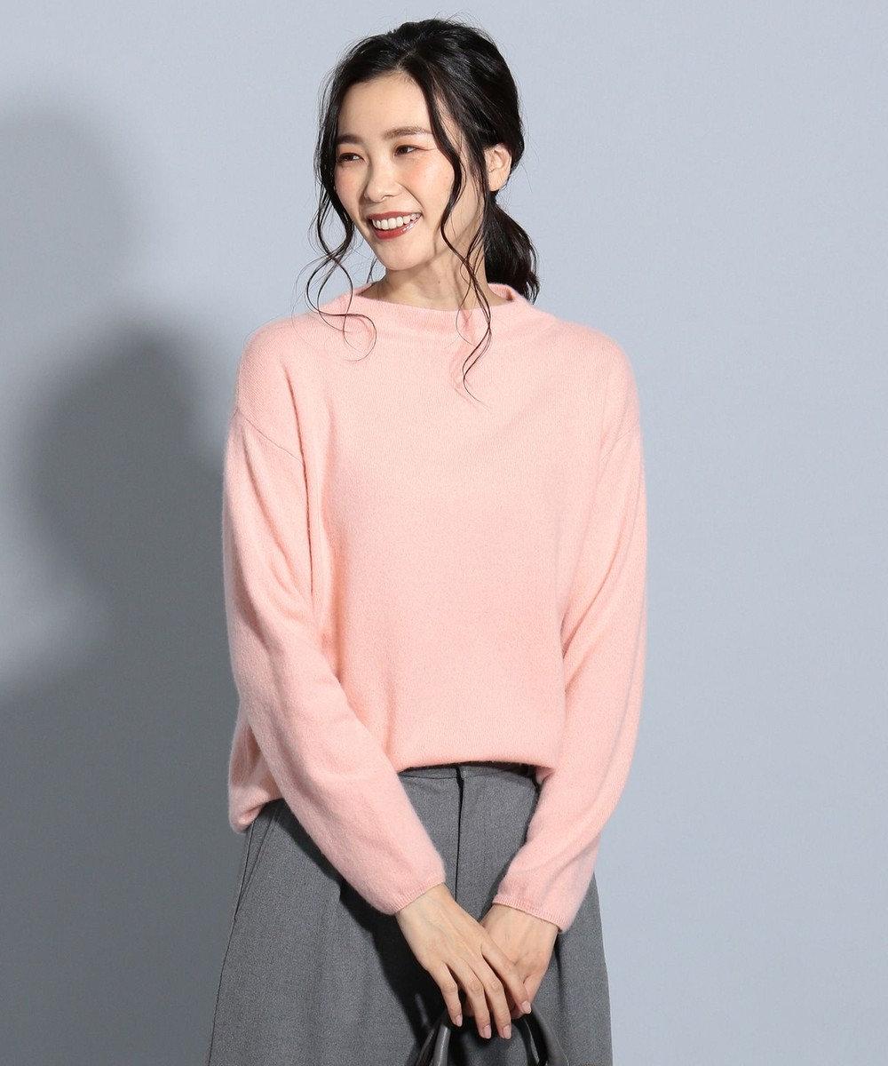 J.PRESS LADIES S 【カシミヤ100%】ピュアカシミヤボトルネック ニット ピンク系
