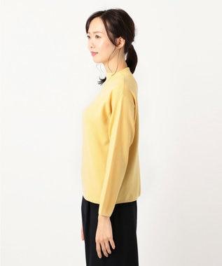 J.PRESS LADIES S 【カシミヤ100%】ピュアカシミヤボトルネック ニット イエロー系