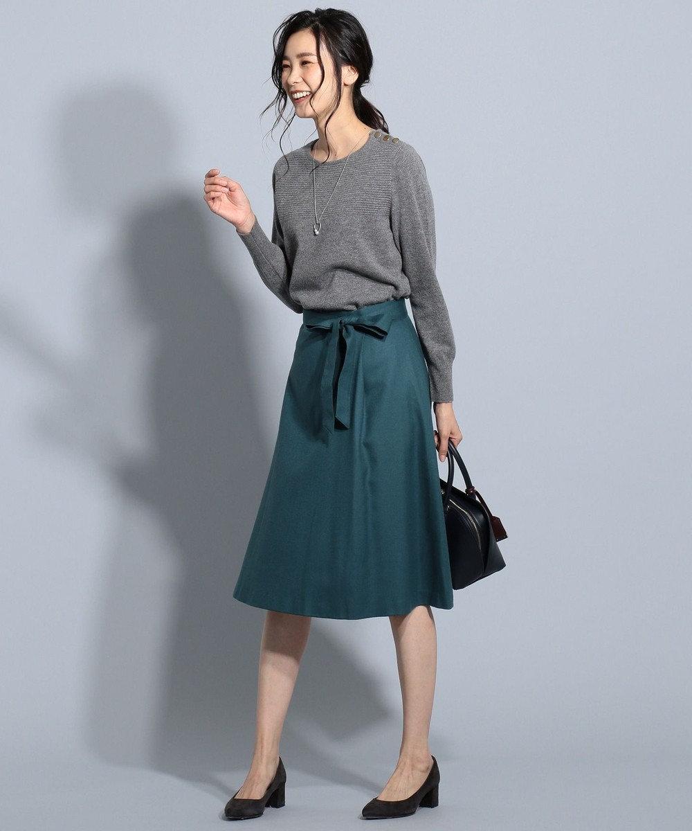 J.PRESS LADIES S 【洗える】カシミヤブレンド ニット グレー系