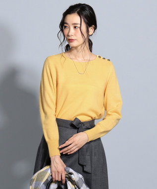 J.PRESS LADIES S 【洗える】カシミヤブレンド ニット イエロー系