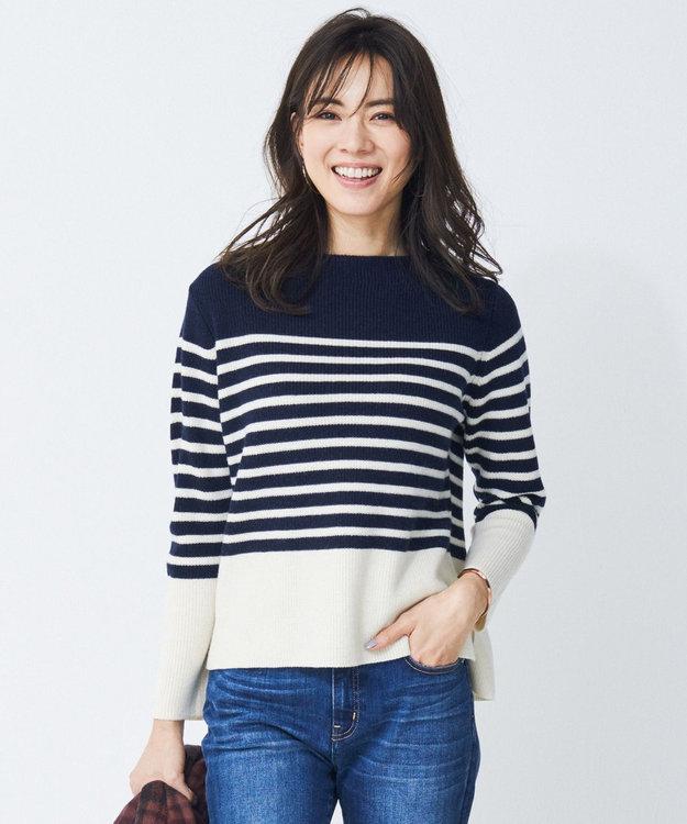 J.PRESS LADIES 【9周年記念WEB限定】SEMI WORSTEDボーダー ニット