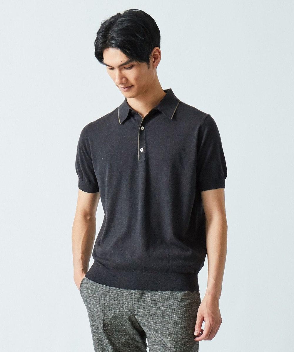 gotairiku 【FIRMAR ZERO】 ハイゲージニット ポロシャツ グレー系