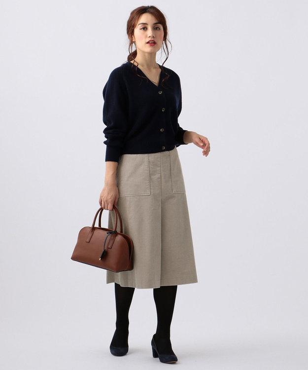 J.PRESS LADIES L 【WEB限定】片畦コクーンショート カーディガン