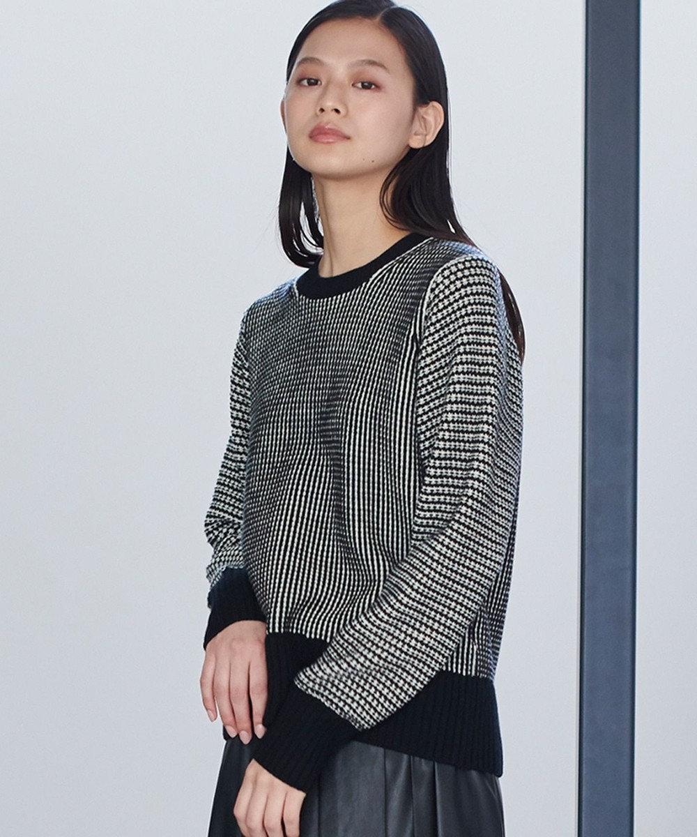 JOSEPH 【JOSEPH STUDIO・百々千晴さん推薦】パッチワークニット セーター ブラック系3