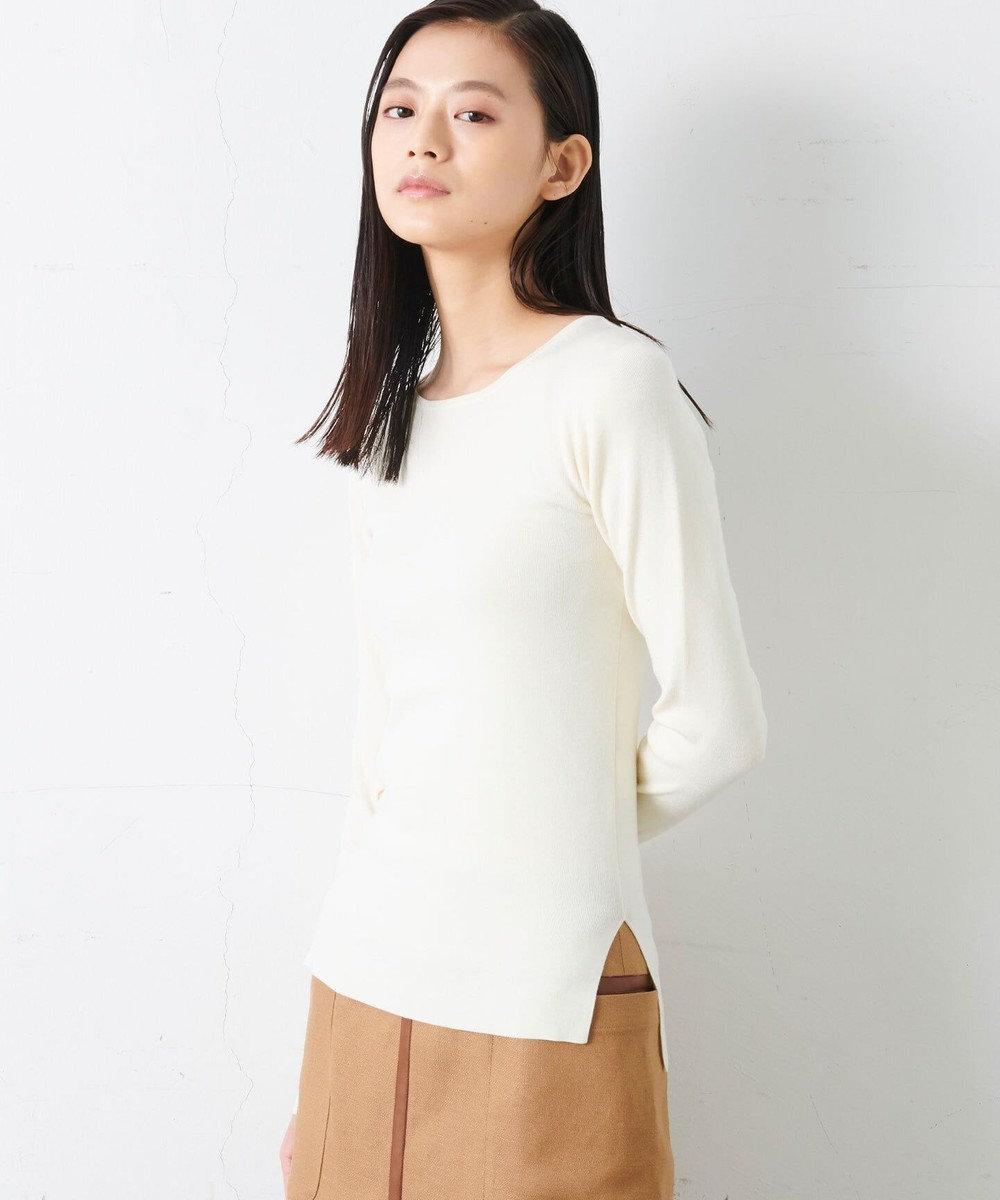 JOSEPH STUDIO 【百々千晴さん推薦】テンセルウールストレッチ ニット アイボリー系