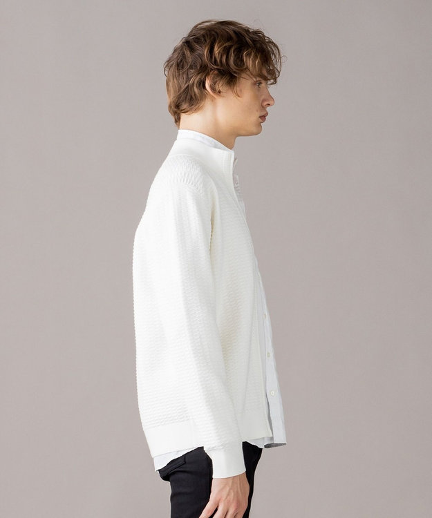 JOSEPH HOMME 【定番】ヴィスコースリンクスジャガード ジップアップ ホワイト系